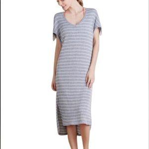 Saturday Sunday Anthro Midi Striped Dress